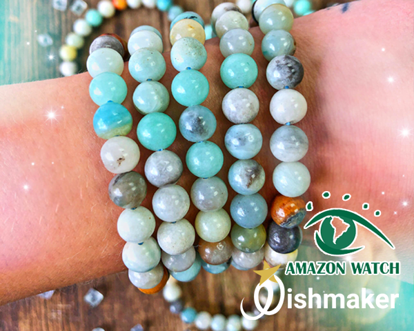 5 Amazonite Stretch Bracelets
