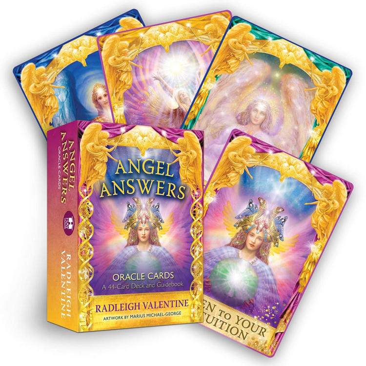 Angel Answers Oracle Cards: A 44-Card Deck and Guidebook by Radleigh Valentine